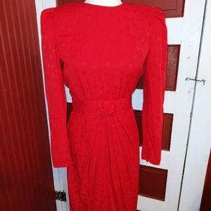 Vintage 80's  Maggie Boutique Red Dress 4